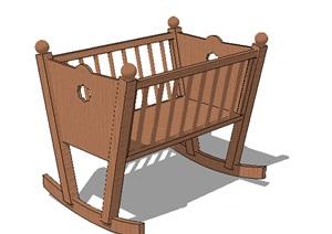 木质婴儿床SU(草图大师)模型