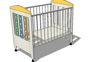 室内婴儿床设计SU(草图大师)模型