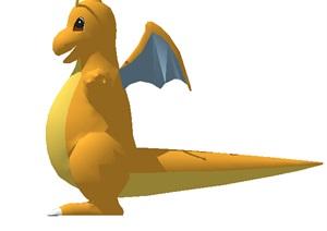 恐龙雕塑设计SU(草图大师)模型