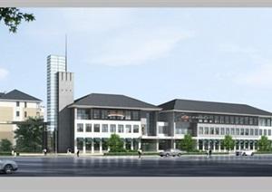 商业建筑设计psd效果图
