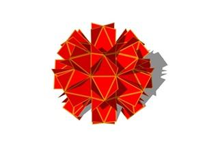 小品球形雕塑详细设计SU(草图大师)模型