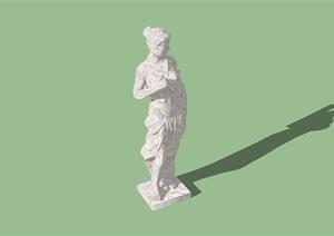 现代小品人形雕塑SU(草图大师)模型