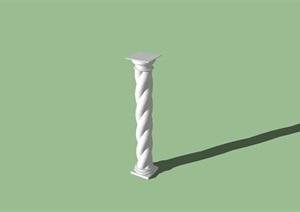 欧式扭转景观柱设计SU(草图大师)模型