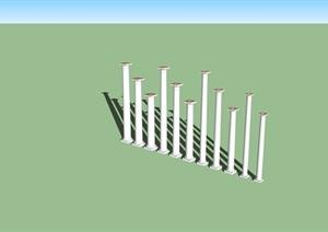 欧式柱子多根设计SU(草图大师)模型