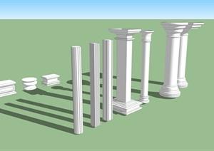 某欧式建筑柱子精选SU(草图大师)模型