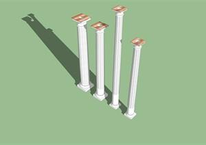 欧式柱子精选设计SU(草图大师)模型