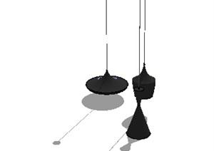 简约风吊灯组合SU(草图大师)模型