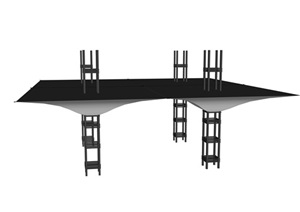 某张拉膜景观小品SU(草图大师)模型
