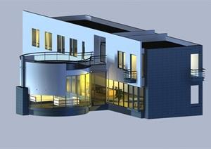 某别墅详细建筑3D模型