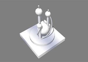 小品雕塑精选素材SU(草图大师)模型