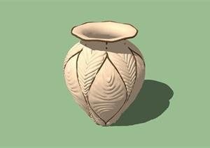 陶罐小品实物雕塑设计SU(草图大师)模型