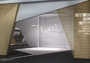 品牌展厅室内装潢设计SU模型