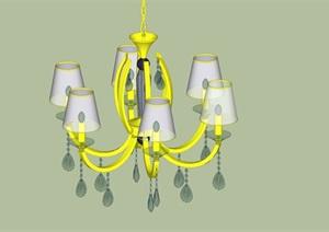 某简欧室内吊灯设计SU(草图大师)模型