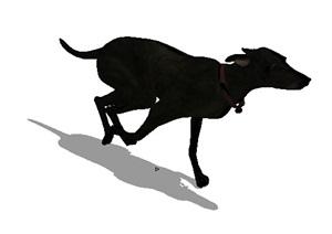 奔跑的小狗设计SU(草图大师)模型
