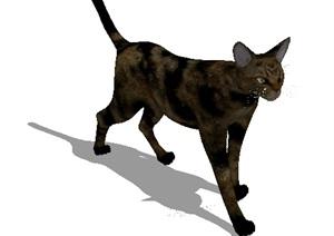 小猫素材详细设计SU(草图大师)模型