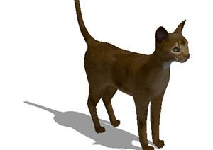 动物小猫设计SU(草图大师)模型