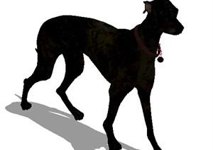 一条小狗素材设计SU(草图大师)模型