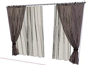 窗帘素材设计SU(草图大师)模型