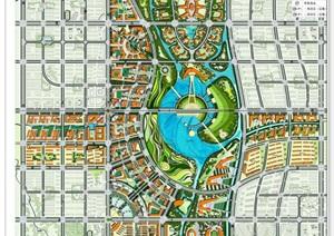 现代完整的城市规划设计jpg平面图