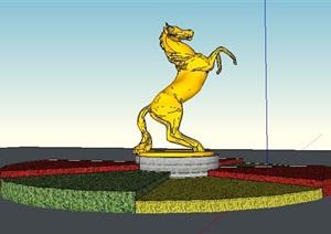 马匹雕塑景观小品雕塑SU(草图大师)模型