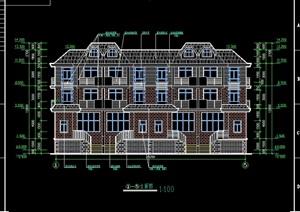联排别墅设计cad施工方案