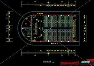 市政报告厅室内空间设计cad施工图