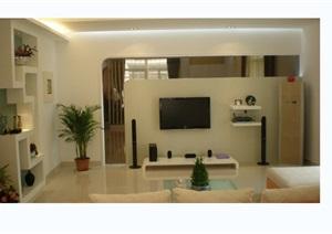 现代别墅室内设计cad施工图附完工照片