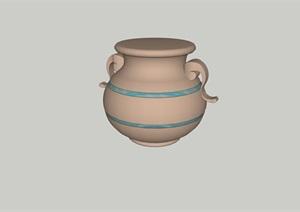 陶罐素材SU(草图大师)模型