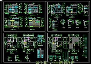 40套别墅设计cad方案设计图