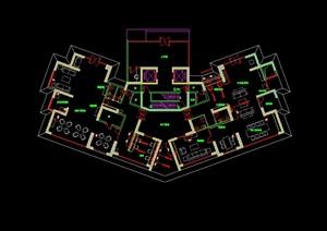 某详细的会所室内空间cad施工图及材料样板