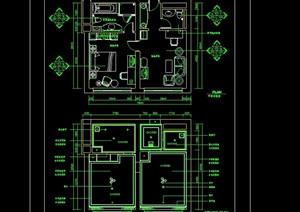 豪华客房详细设计cad施工图