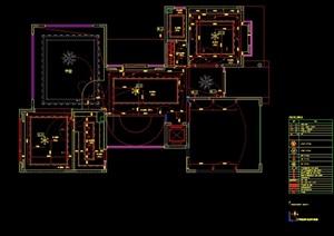 某现代风格独立別墅室内cad施工图及材料样板