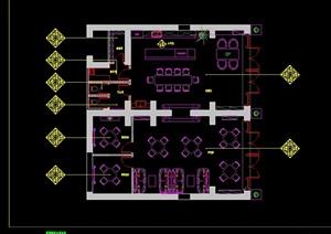一套会所室内空间设计cad施工图