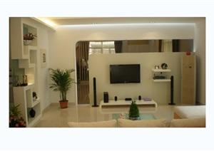 二层现代别墅室内cad施工图附完工照片