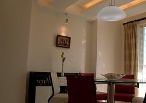 现代住宅室内空间装饰设计cad施工图(含实景照片)