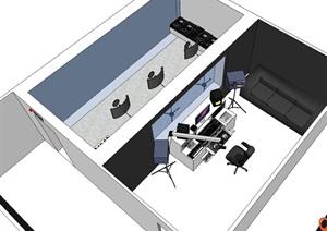 录制棚工作室详细设计SU(草图大师)模型