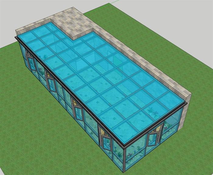 阳光房独特详细设计su模型
