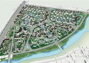 中国古典住宅小区规划设计SU(草图大师)模型