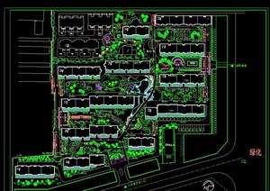 小区环境绿化设计cad方案