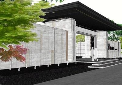 某豪宅示范区住宅景观su精细模型