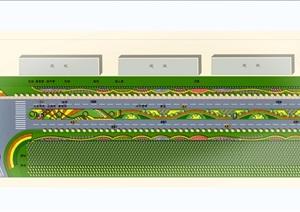 滨海公路景观设计CAD方案及效果图