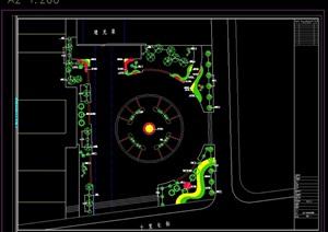 生肖广场绿化设计cad平面图