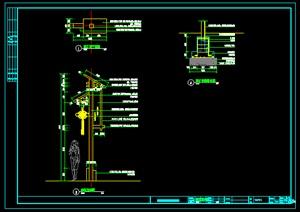 中式路灯详细设计cad施工图