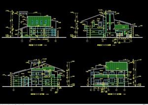 藏式别墅详细建筑设计cad施工图