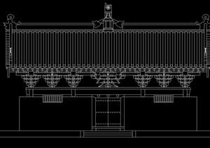 古建测绘寺庙建筑设计cad方案