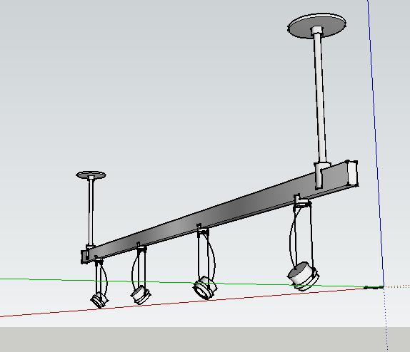 室内轨道射灯su模型