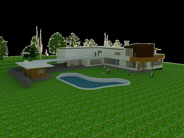 玛利亚别墅住宅建筑设计su模型