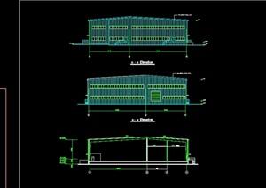 某公司厂房建筑设计cad图纸