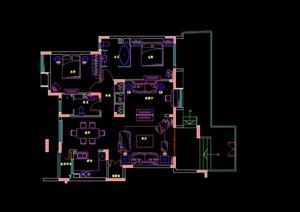 大都会风格住宅室内设计cad施工图