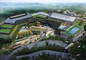 现代度假山庄酒店景观方案设计